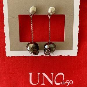 """NWT! UNO de 50 Earrings """"Que Colgadas!"""" PEN0443."""